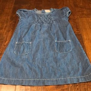 Hanna Andersson girls chambray dress, size 8